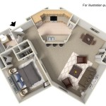The Sweetbay 1 Bedroom | 1 Bathroom  800 Sq. Ft.
