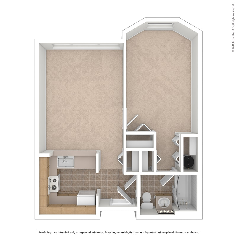 The Magnolia - One Bedroom | One Bathroom - 600 Sq. Ft.