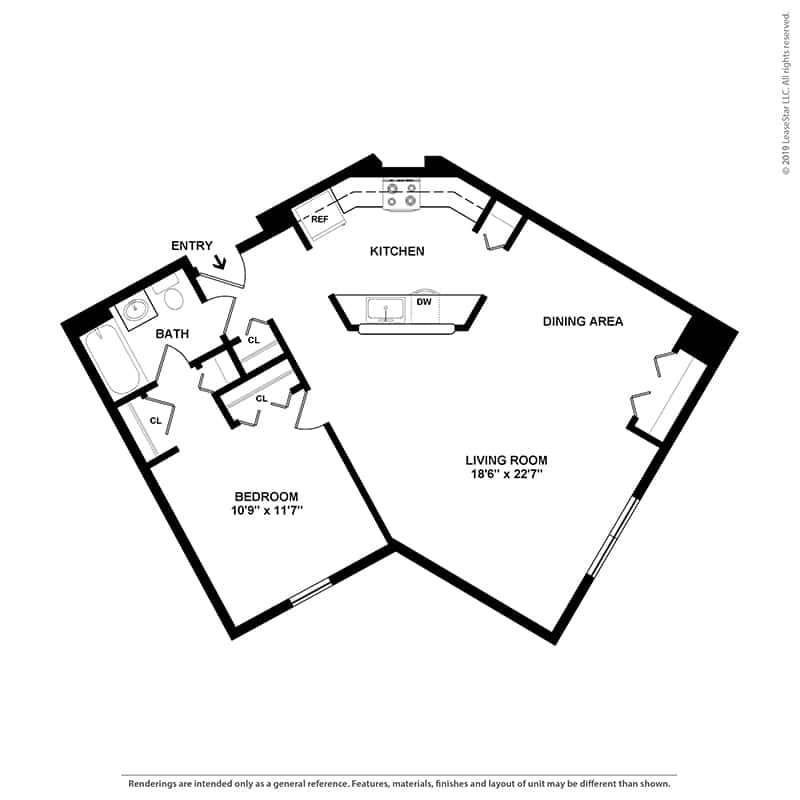 The Sweetbay - 1 Bedroom | 1 Bathroom - 800 Sq. Ft.